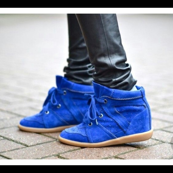 7eaa61f818 Isabel Marant Shoes - Isabel marant cobalt blue suede BOBBY wedge 39